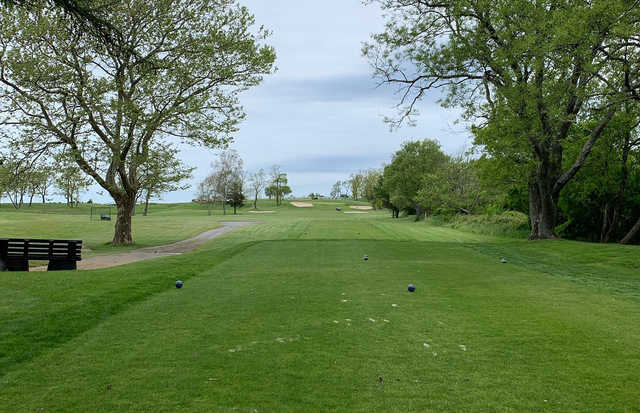 A view from a tee at Island's End Golf & Country Club.