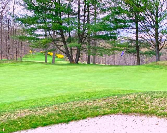 A view of a green at Somers National Golf Club.