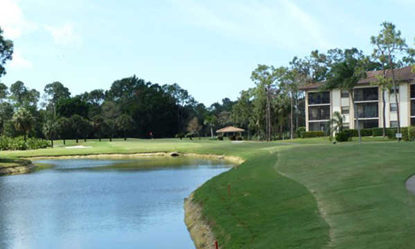 A view of hole #8 at Blue from Foxfire Country Club.