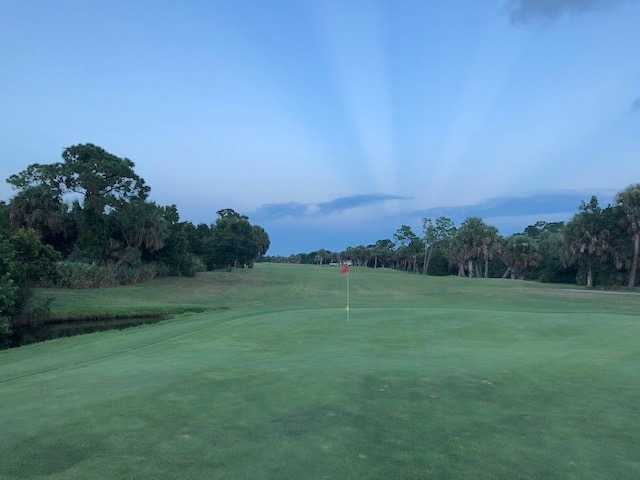 A view of a green at Gator Trace Golf & Country Club.