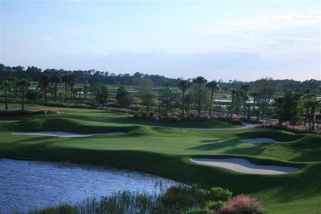 A view of a well protected hole at TPC Treviso Bay.