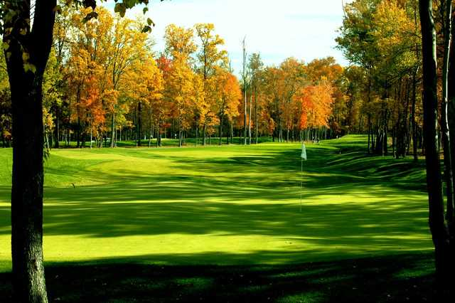 A view of the 8th hole at Blue Mash Golf Course.