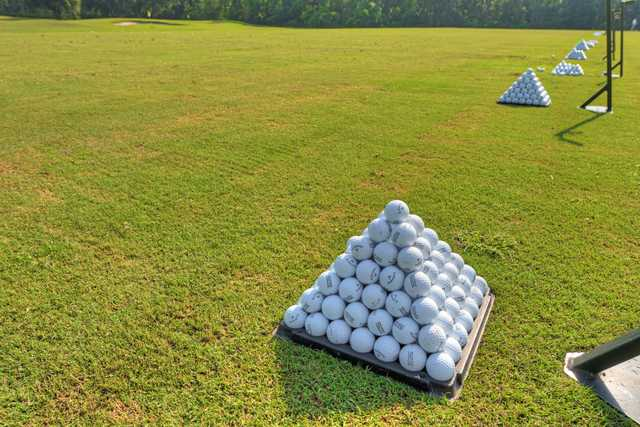 A view from the driving range at Amelia National Golf and Country Club