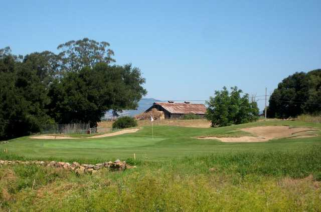 Eagle Vines Vineyards and Golf Club features large, topsy-turvy greens.