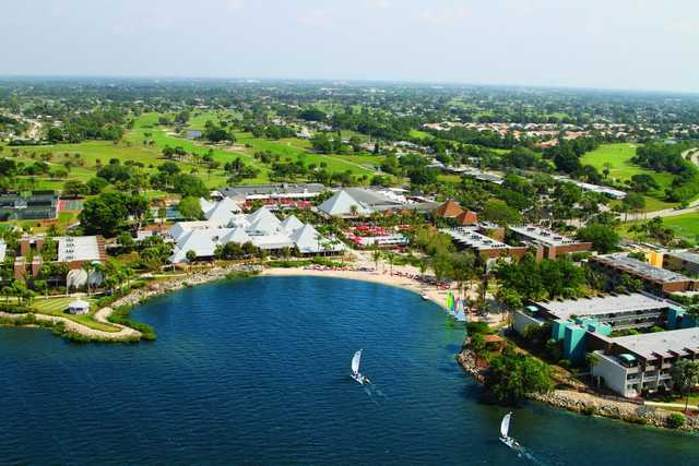 Aerial view from Club Med Sandpiper