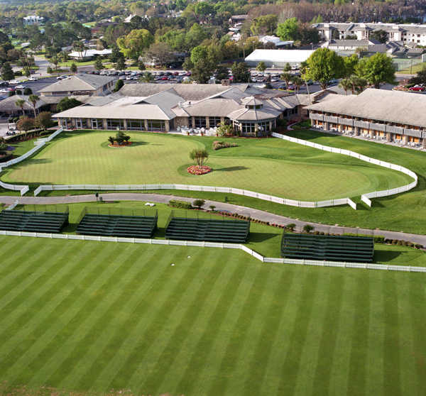 Aerial view of Bay Hill's putting green