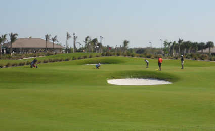 A view of the clubhouse at Osprey Point Golf Club