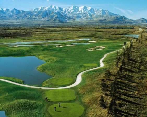 Aerial view from Creekside Course at Stonebridge Golf Club