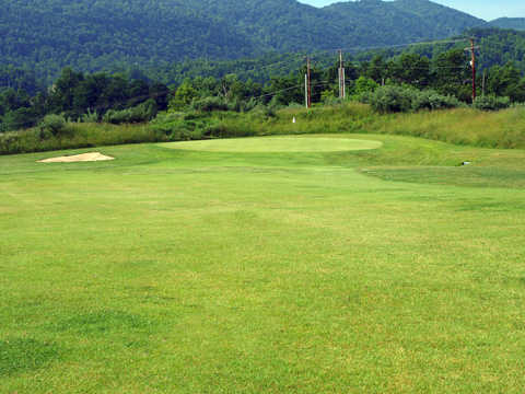 A view of the 15th green at Raven Rock Golf Course