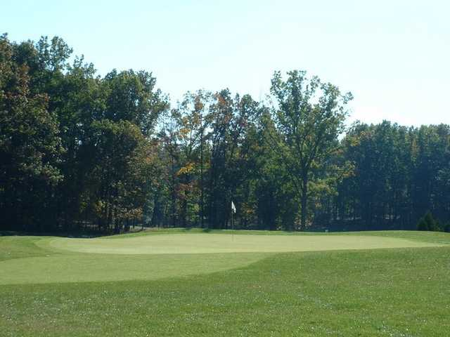 A view of green #14 at Heritage Oaks Golf Course