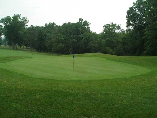 A view of the 15th green at Heritage Oaks Golf Course