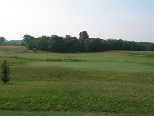 A view of green #16 at Heritage Oaks Golf Course