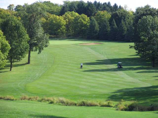 A view of green from fairway at Dretzka Golf Course