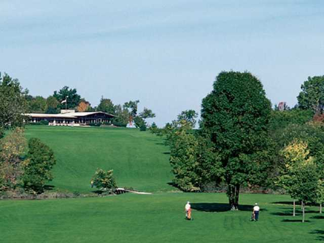 A view of the clubhouse at Dretzka Golf Course