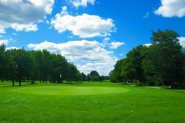A view of a green at Carriage Greens Country Club