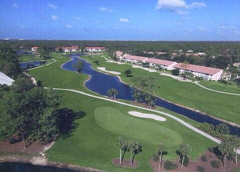 Aerial view of green #7 at Royal Wood Golf & Country Club