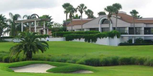 A view of the clubhouse at Sugar Mill Country Club