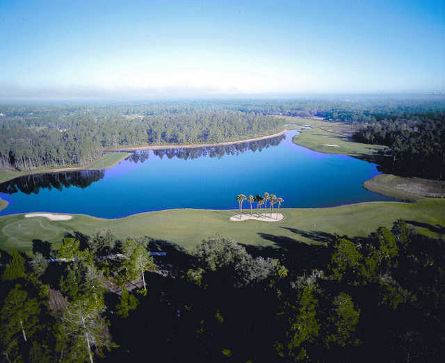 Aerial view from Prestwick Golf Club at Plantation Bay Golf and Country Club