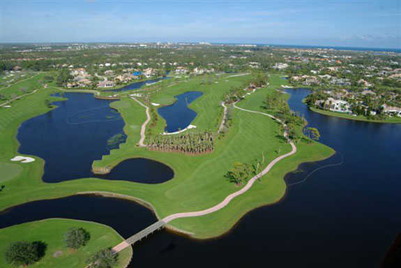 Aerial view from North at Frenchman's Creek Beach & Country Club