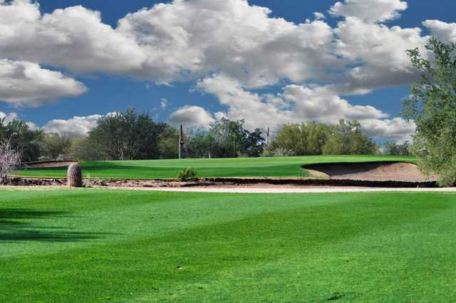 A view of the 14th green at Dove Valley Ranch Golf Club