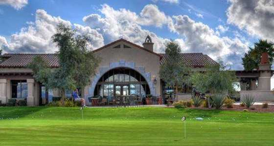 A view of the clubhouse at Corte Bella Golf Club