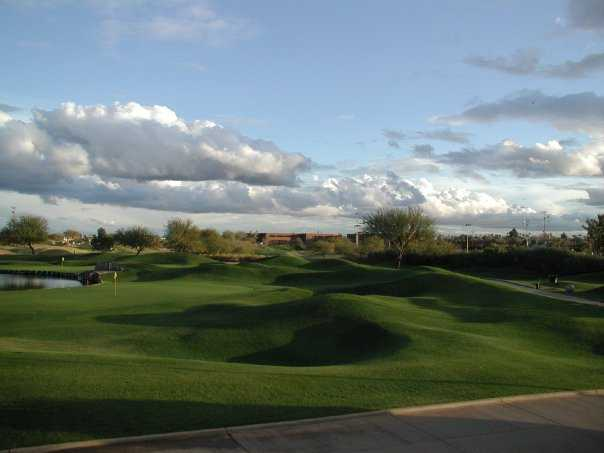 A view of the 18th green at ASU Karsten Golf Course