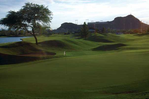 A view of green #10 at ASU Karsten Golf Course