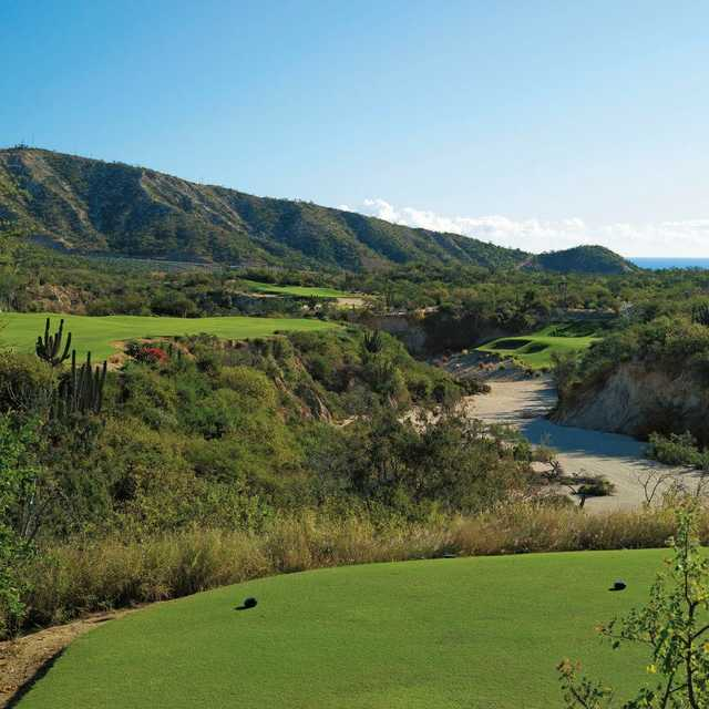 A view of hole #5 at Mountain Golf Course from One&Only Palmilla Golf Club.