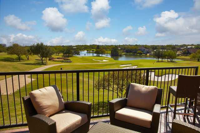 A view from the clubhouse terrace at Las Colinas Country Club