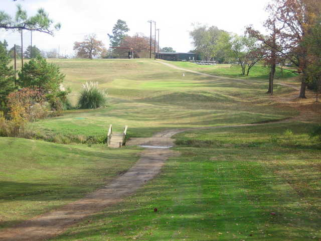 A view of green #9 at Divine Nine & Alpine Target Golf