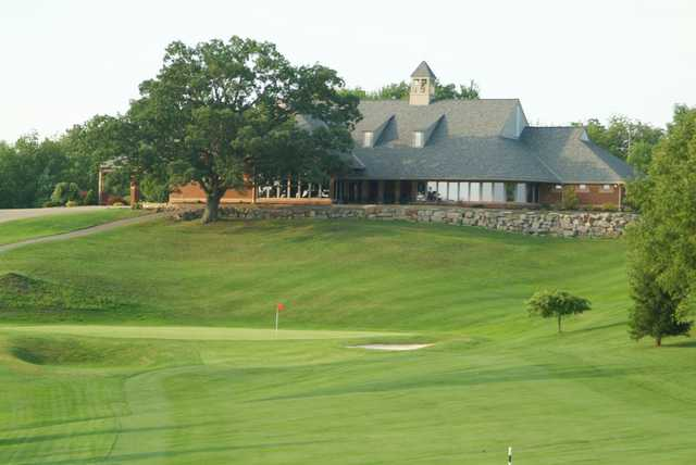 A view of the clubhouse at Lenape Heights Golf Course