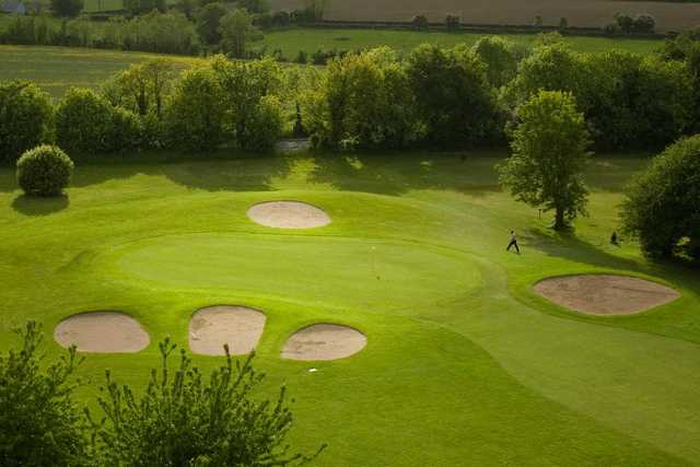 Aerial view of green #13 at Roe Park Golf Club