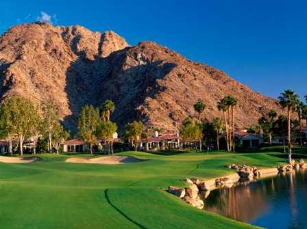 A view of green #13 at PGA West Arnold Palmer Course