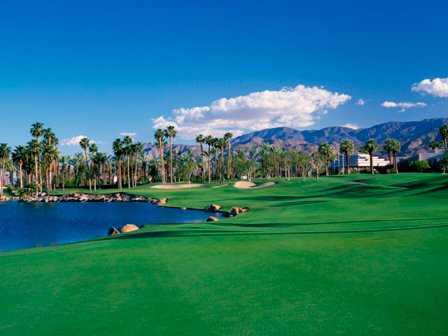 A view of the 9th hole at PGA West Arnold Palmer Course