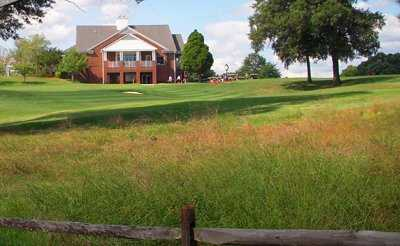 A view of the clubhouse at University of Maryland Golf Course