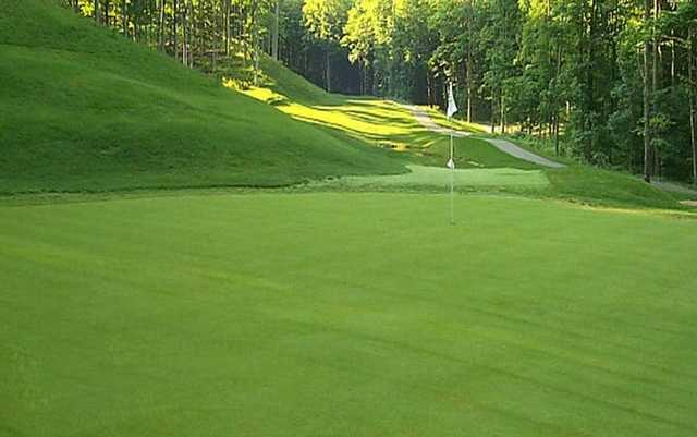 A view of green #14 at The Chief Golf Course