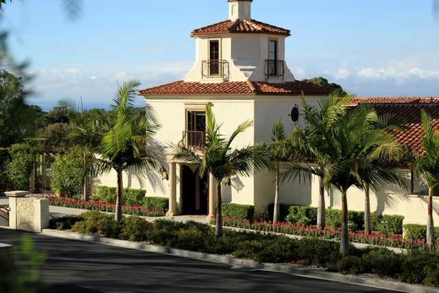 A view of the clubhouse at Palos Verdes Golf Club