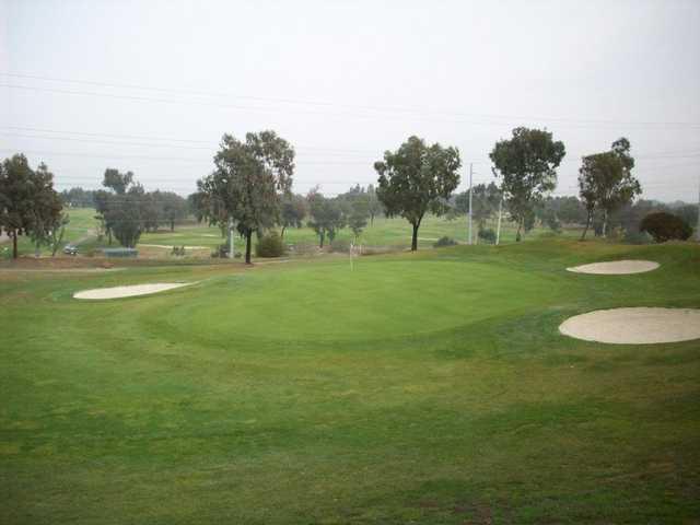 A view of hole #7 at Santa Clara Golf & Tennis Club.