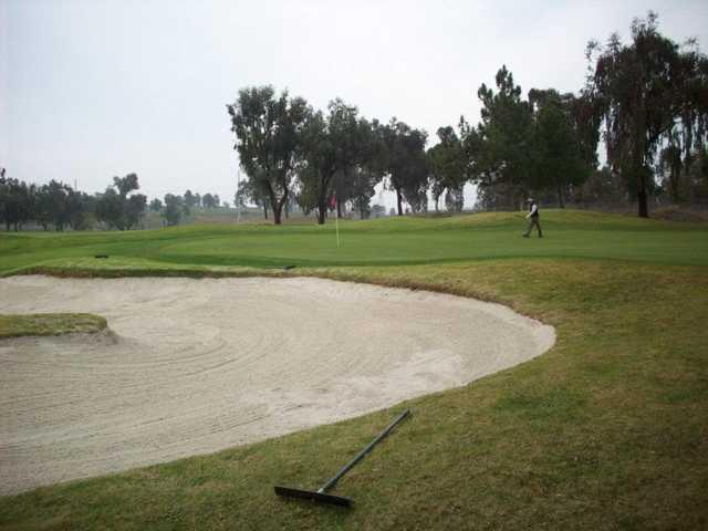 A view of the 13th green at Santa Clara Golf & Tennis Club.
