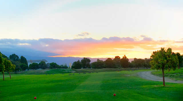 A view from tee at Moffett Field Golf Club