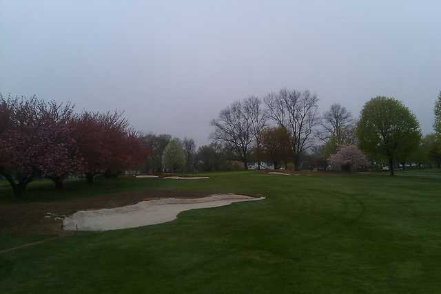 A spring view of hole #6 at E. Gaynor Brennan Golf Course