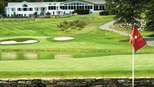 A view of the clubhouse at Rockrimmon Country Club