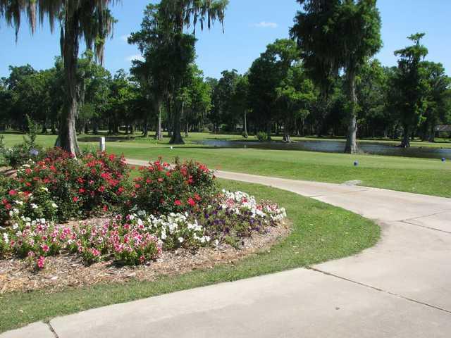 A view of tee #1 at Grand Ridge Golf Club