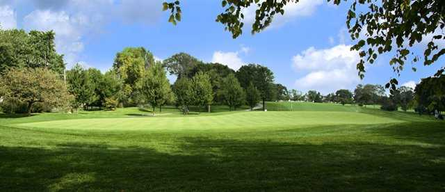 A view of the 12th green at Baer course from Schaumburg Golf Club