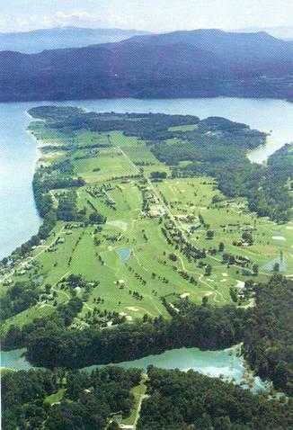 Aerial view from Baneberry Golf & Resort