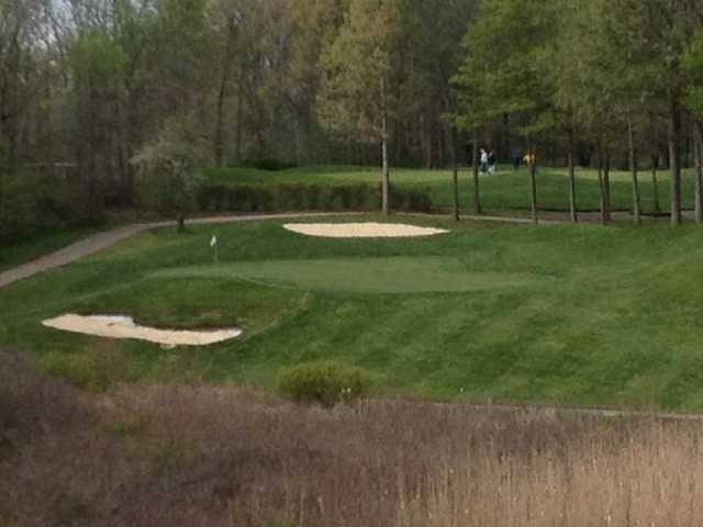 A view of green #5 at East Course from Links of Novi