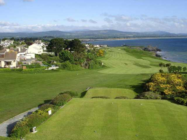 A view from the 1st tee at Wicklow Golf Club