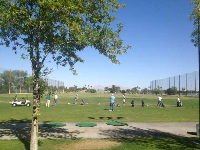 A view of the driving range at Las Vegas Golf Club