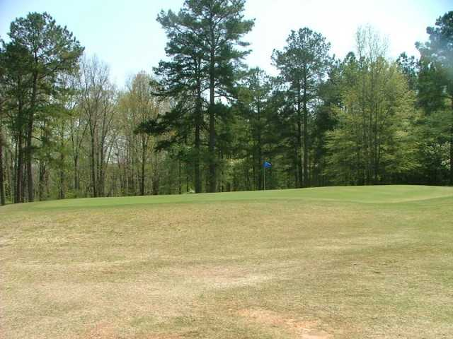 A view of hole #7 at Lake Jonesco Golf Course