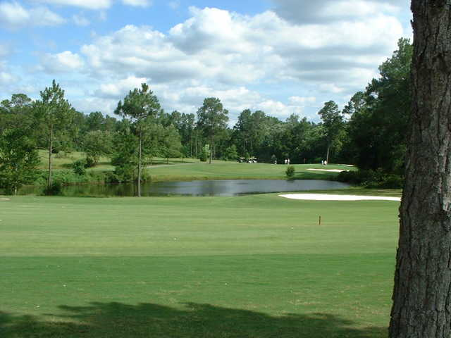 A view of the 4th hole at Lake Jonesco Golf Course
